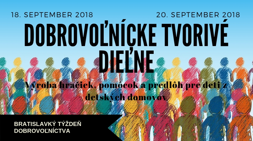 Dobrovoľnícke tvorivé dieľne – 18/09/2018